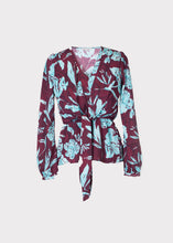 Nyssa Top in Purple Floral Snakeskin Print