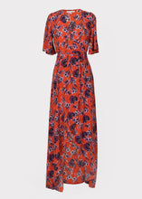 Rosa Dress in Rust Tulip Print