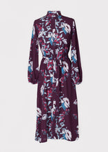 Acacia Dress in Plum Peony print