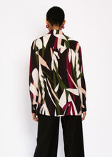 Nerine Longline Shirt in Abstract floral print