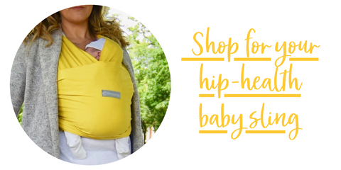 Shop here for your hip healthy baby sling