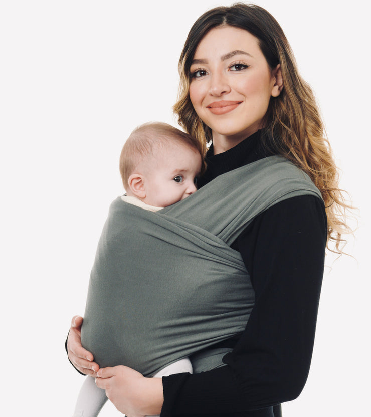 Oyster Grey Baby Sling Wrap