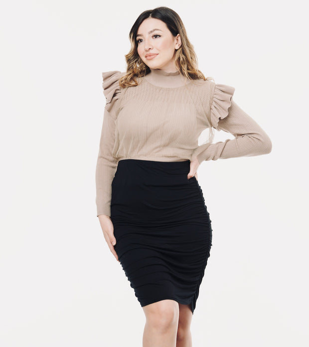 Black maternity skirt 2