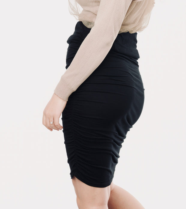 Black maternity skirt 4