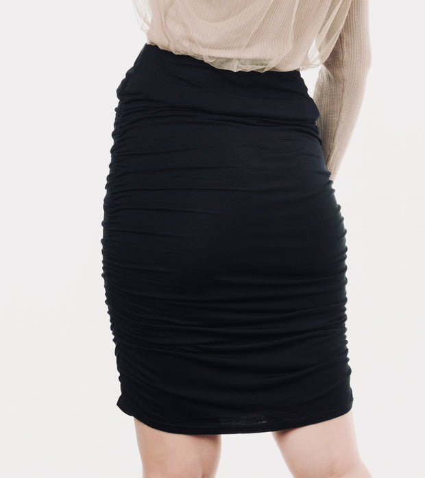 Black maternity skirt 5