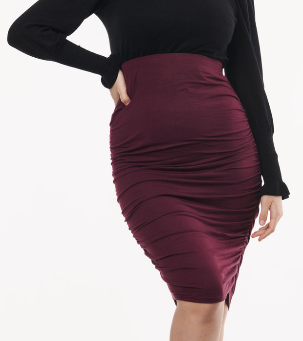 Maternity Skirt Burgundy 2