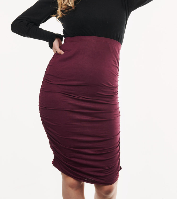 Maternity Skirt Burgundy