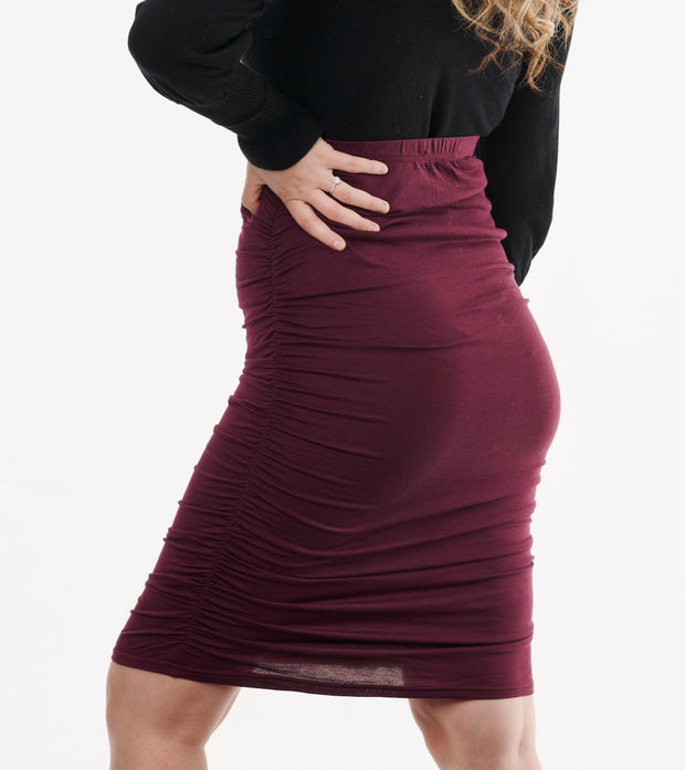 Maternity Skirt Burgundy 4
