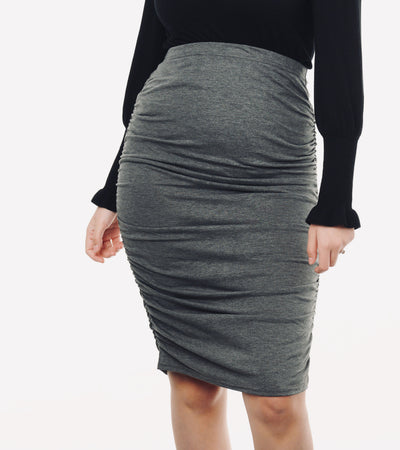 Maternity Skirt Grey#color_grey