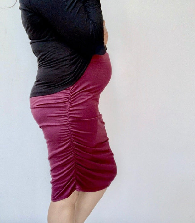 Maternity Skirt Burgundy 7