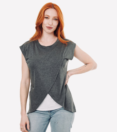 Grey nursing tshirt#color_grey