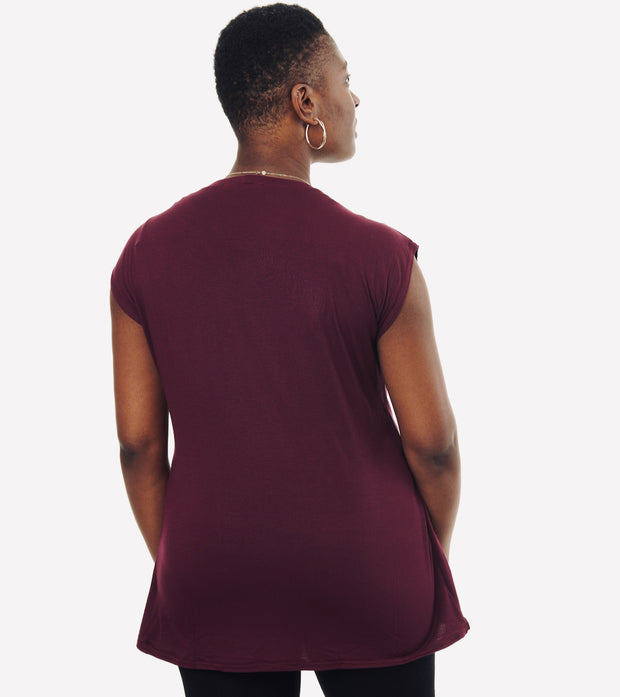 Nursing T-Shirt (Burgundy)