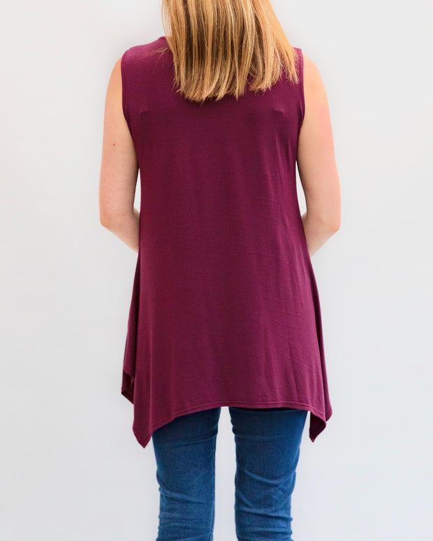 Long Nursing Top (Black)