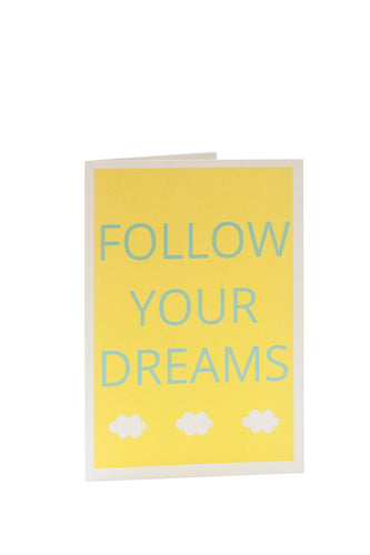 Auryn Papeterie - Follow Your Dreams - Motivationskarte - AURYN Shop
