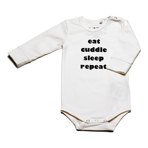 Auryn - Body natur mit Print eat cuddle sleep repeat - AURYN Shop