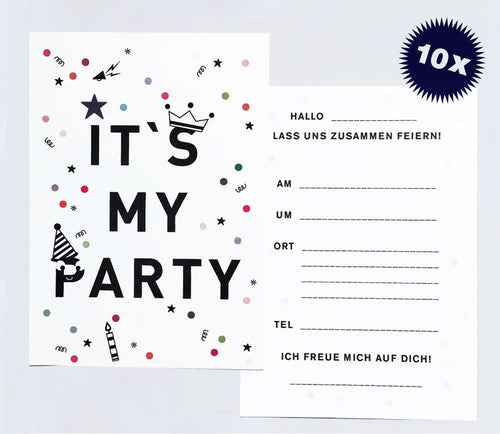Manenpaper - It's my Party Einladungen 10 Stück - AURYN Shop
