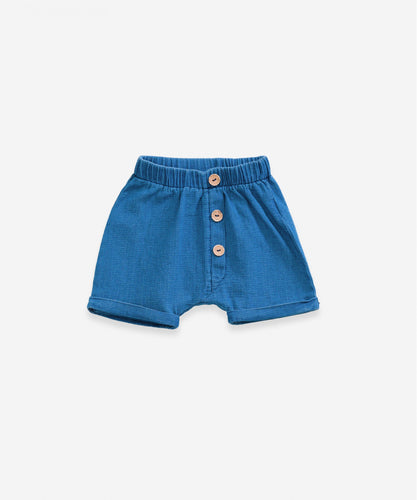 Play up - Baumwoll-Short blau - AURYN Shop