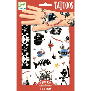 Kindertattoos mit Piratendesign von Djeco