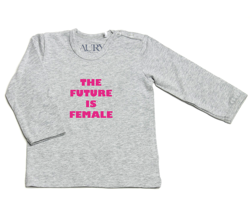 Auryn - Shirt grau The future is female pink - AURYN Shop