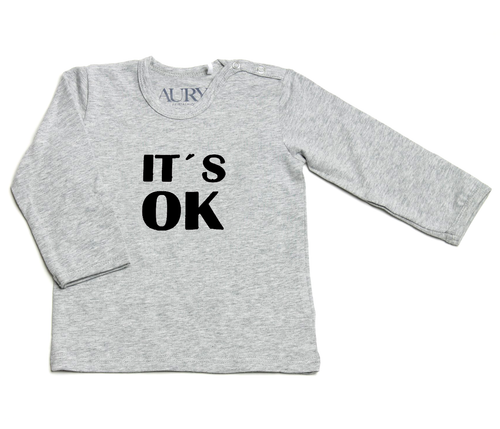 Auryn - Shirt grau IT'S OK schwarz - AURYN Shop