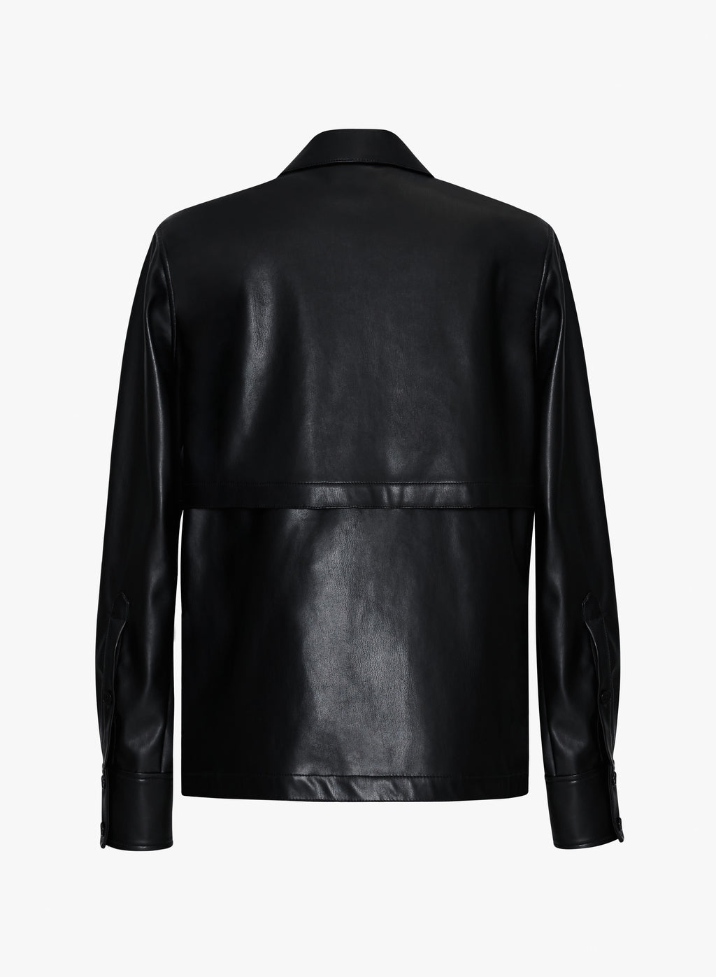 Faux Leather Storm Flap Shirt