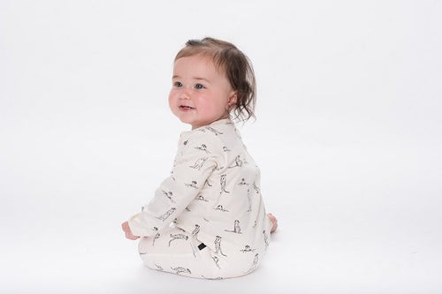 Meerkat Zip Romper - Aster and Oak