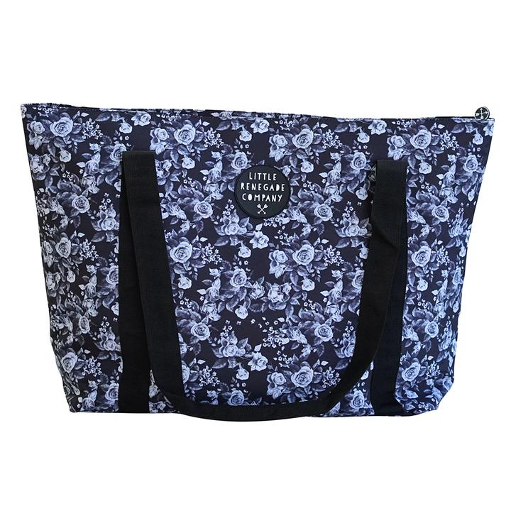 Midnight Blossom Large Tote Bag