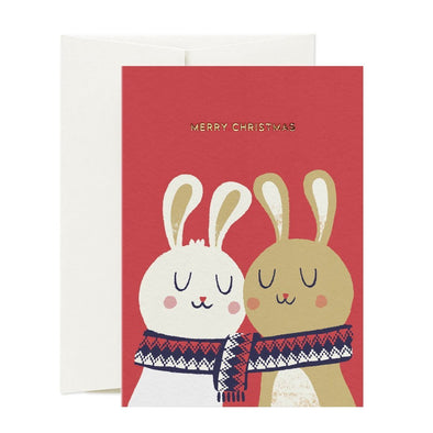 CHRISTMAS BUNNIES CARD-[best_gifts_for_women]-[gifts_for_her]-Seventeen Minutes