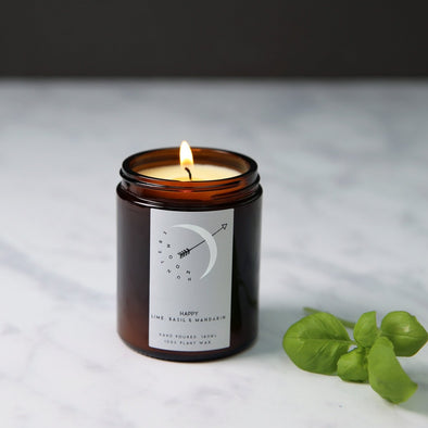 HAPPY - LIME, BASIL & MANDARIN CANDLE