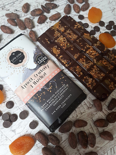 APRICOT CRANBERRY & HAZELNUT VEGAN CHOCOLATE - Seventeen Minutes - self-care subscription box for mums