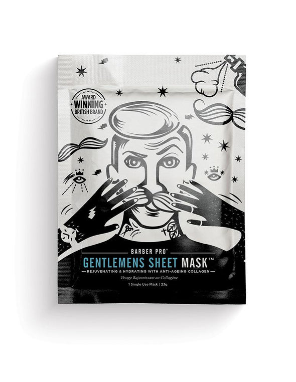 GENTLEMEN'S SHEET MASK REJUVENATING & HYDRATING-[best_gifts_for_women]-[gifts_for_her]-Seventeen Minutes