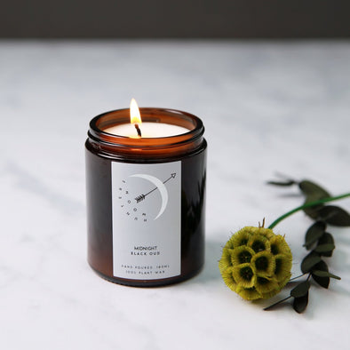MIDNIGHT BLACK OUD CANDLE-[best_gifts_for_women]-[valentines_gifts_for_her]-[gifts_for_women]-Seventeen Minutes