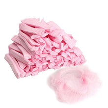 Load image into Gallery viewer, 100PCS Non-woven Disposable Shower Caps Pleated Anti Dust Hat Women Men Bath Caps for Spa Hair Salon Beauty Accessories