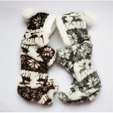 The New Autumn And Winter Snowflake Soft Fleece Dog Clothes