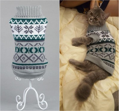 Candy Stripe Winter Spring Cat Sweater
