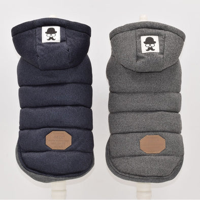 Winter Dog Clothes Blue Grey Color