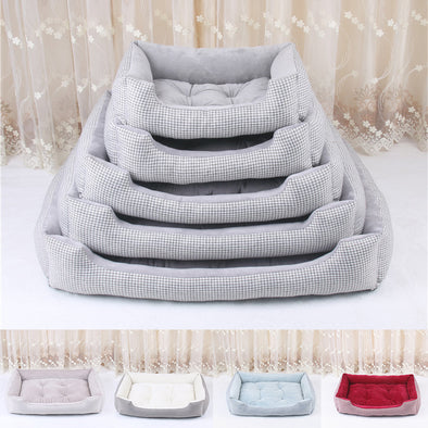 Pet Dog Stripped Pattern Detachable and Washable Bed