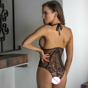 Sexy Lingerie Women 2019 One Piece Lace Babydoll Halter Sleepwear Sexy Hot Erotic Costumes Porn Latex Lenceria Meihuida