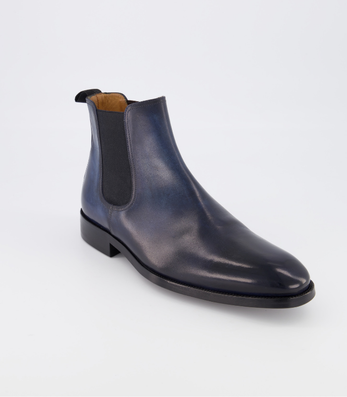 bottines chealsea bleu