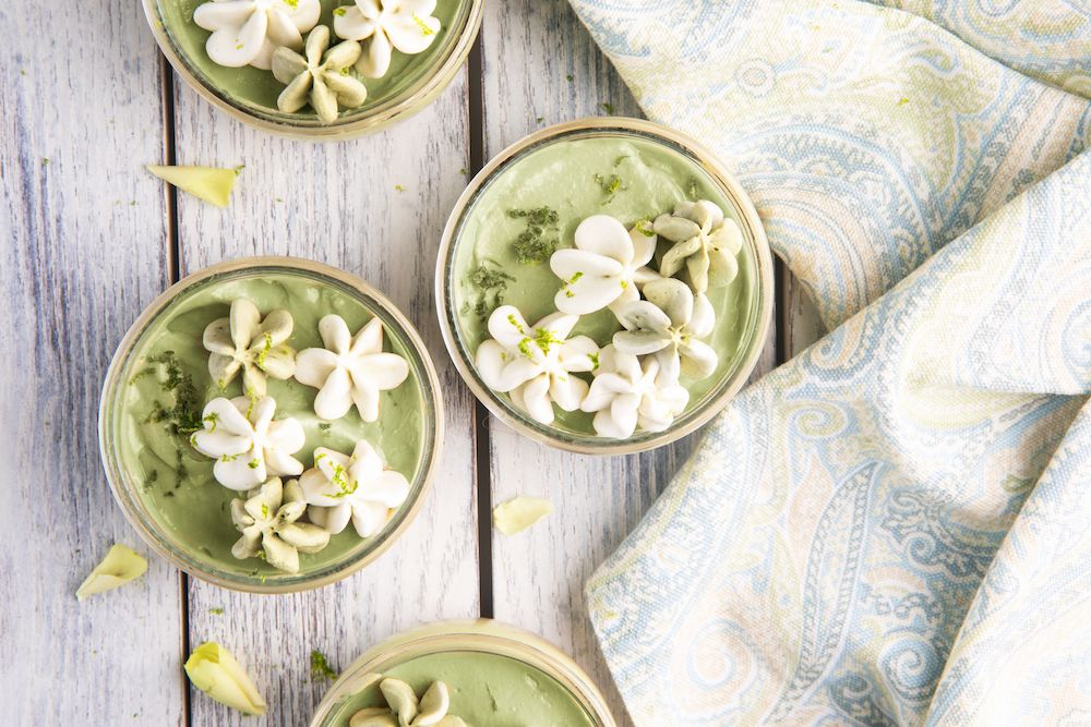 Avocado, Lime and Coconut Cheesecake Pots