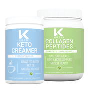 K Nutri's Coffee Bundle with Collagen Peptides and French Vanilla Keto Creamer