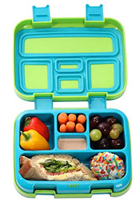 Bizz Bento Box Leakproof Meal Prep Lunchbox (2-Pack) with Reusable Fork-Spoon, Dishwasher Microwave Safe Removable Tray, Lunch Box for Kids and Adults, Portion Control Containers Eat Healthy, BPA Free