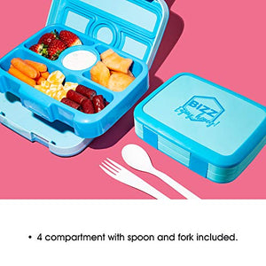Bizz Removable Microwaveable, Dishwasher Safe Extra Spare Trays with Utensils (2-Pack)