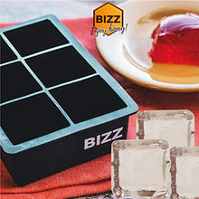 Bizz Silicone Ice Molds (2-Tray Set) Sphere and Cube Combination | Flexible, Reusable, BPA Free | Easy to Freeze, Remove Contents | Whiskey, Bourbon, Cocktail or Drink Use