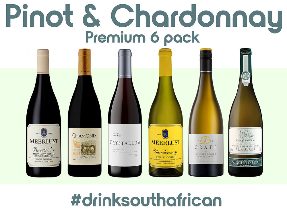 Pinot Noir and Chardonnay Premium 6 Pack