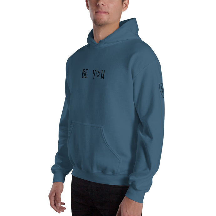 Be-You-With-Every-Beat-Of-Your-Heart-Unisex-Blue-Hoodie-Printed-Sleeve