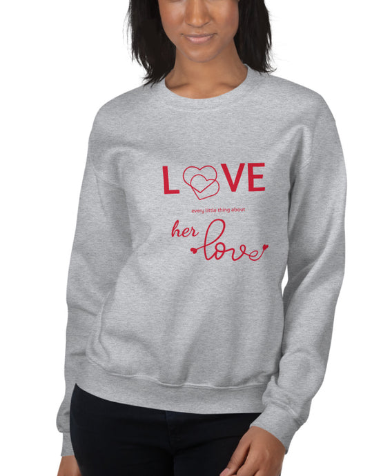 Every Little Thing, Grey Sweatshirt, Black Female Model