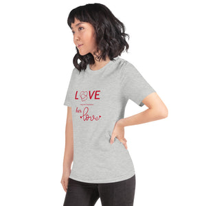 Love Every Little Thing About Her Love, Heather Grey Tshirt, Female Model, Side View