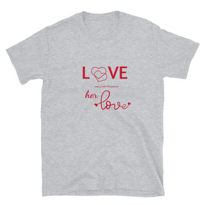 Love Every Little Thing About Her Love, Heather Grey Tshirt, Flat Lay, Front View