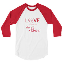 Load image into Gallery viewer, Tomboy-Clothing-Fashion-Every-Little-Thing-Red-Raglan-Unisex-Gender-Neutral-Androgynous-Front-View